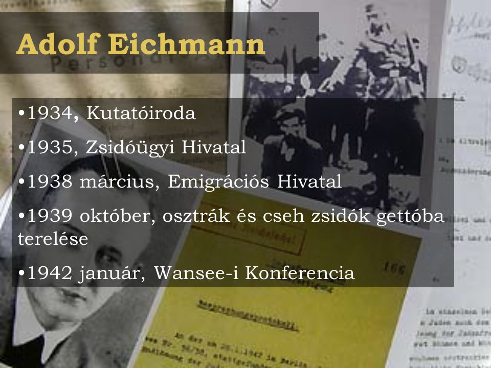 Adolf Eichmann 1934, Kutatóiroda 1935, Zsidóügyi Hivatal