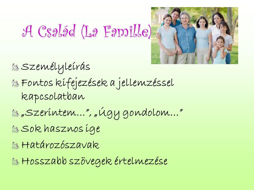 A Család (La Famille) Személyleírás