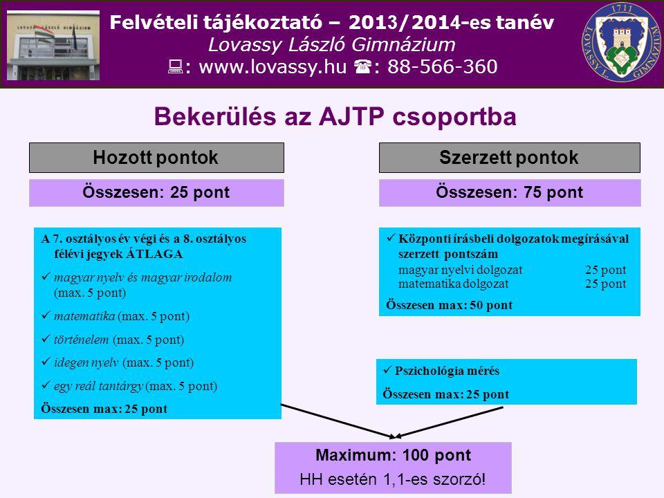 Bekerülés az AJTP csoportba
