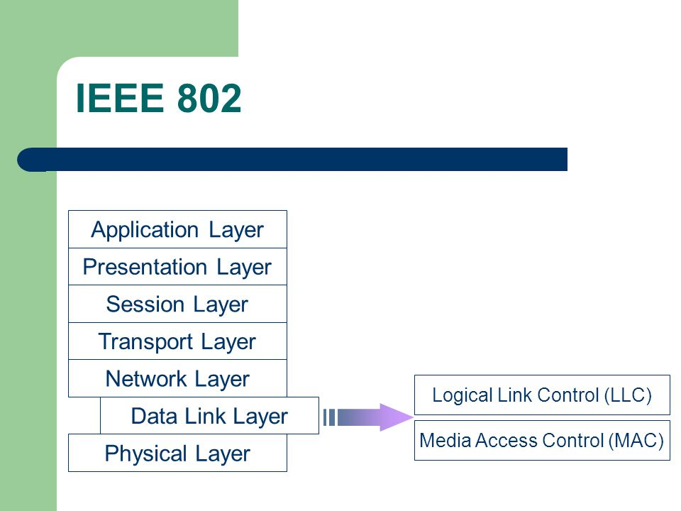 IEEE 802 Application Layer Presentation Layer Session Layer