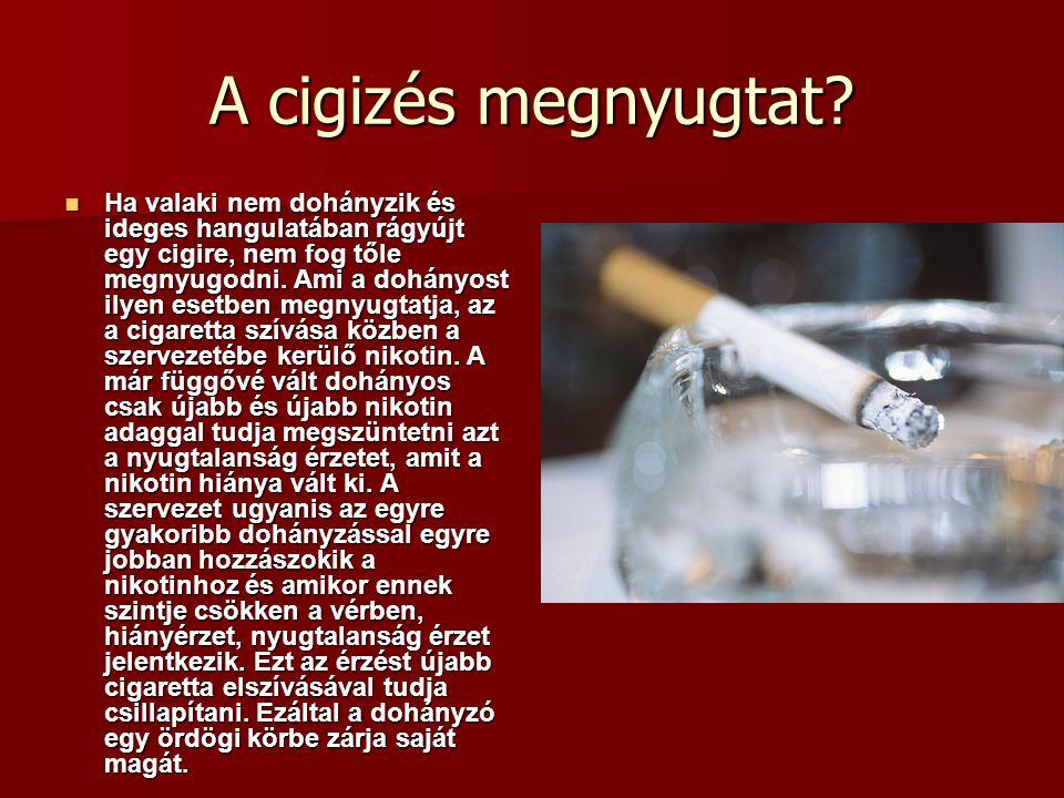 A cigizés megnyugtat