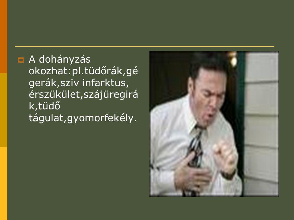 A dohányzás okozhat:pl