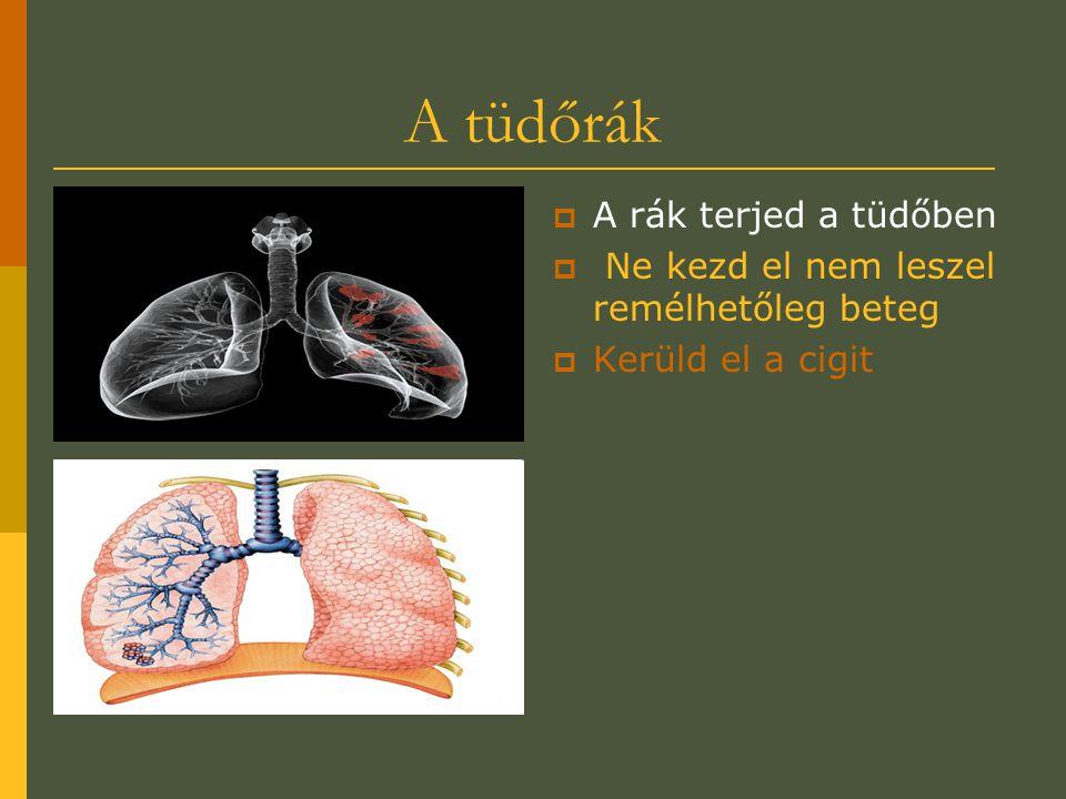 A tüdőrák A rák terjed a tüdőben