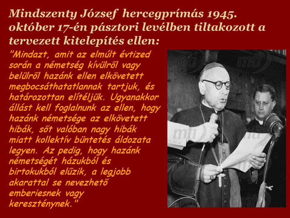 Mindszenty József hercegprímás 1945