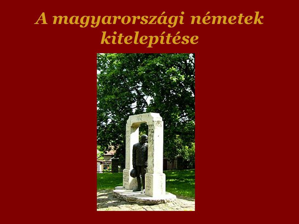 A magyarországi németek kitelepítése