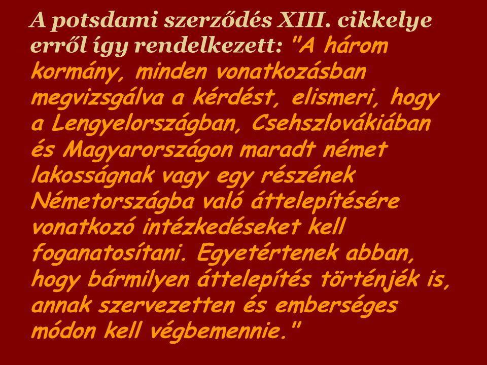 A potsdami szerződés XIII