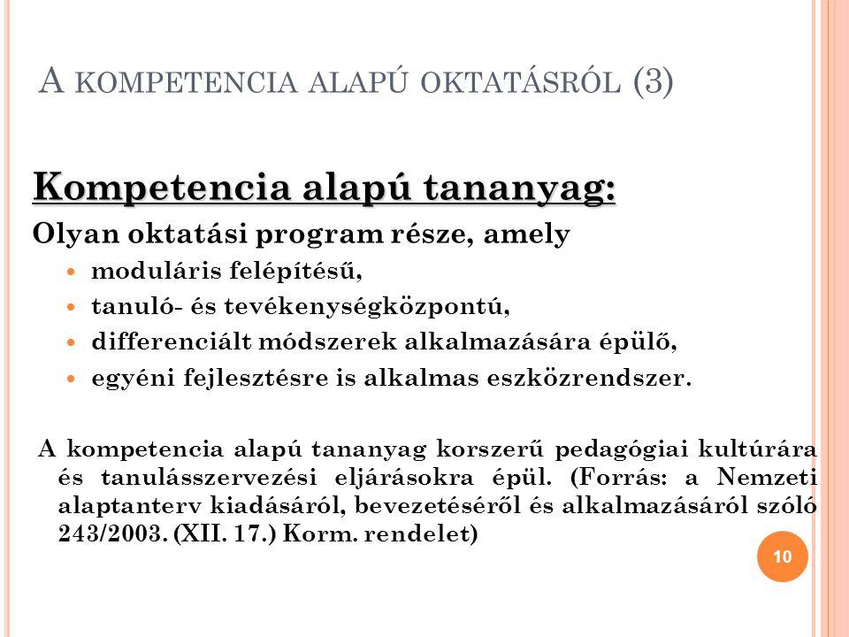 A kompetencia alapú oktatásról (3)