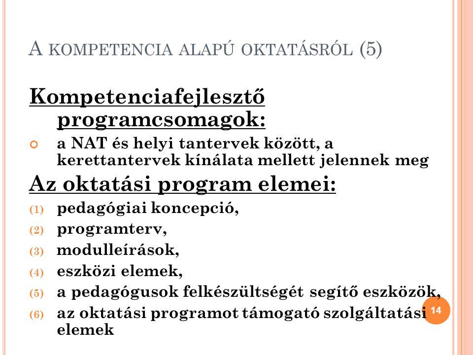 A kompetencia alapú oktatásról (5)