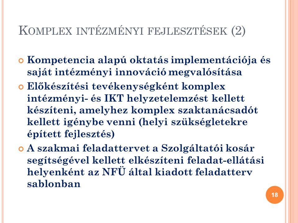 Komplex intézményi fejlesztések (2)