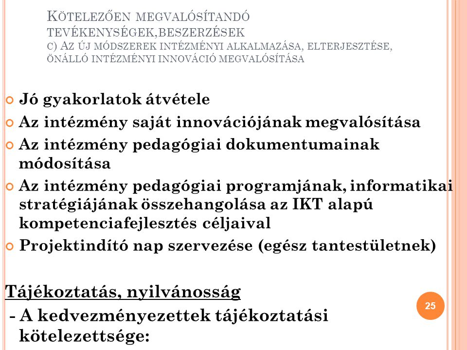 Tájékoztatás, nyilvánosság