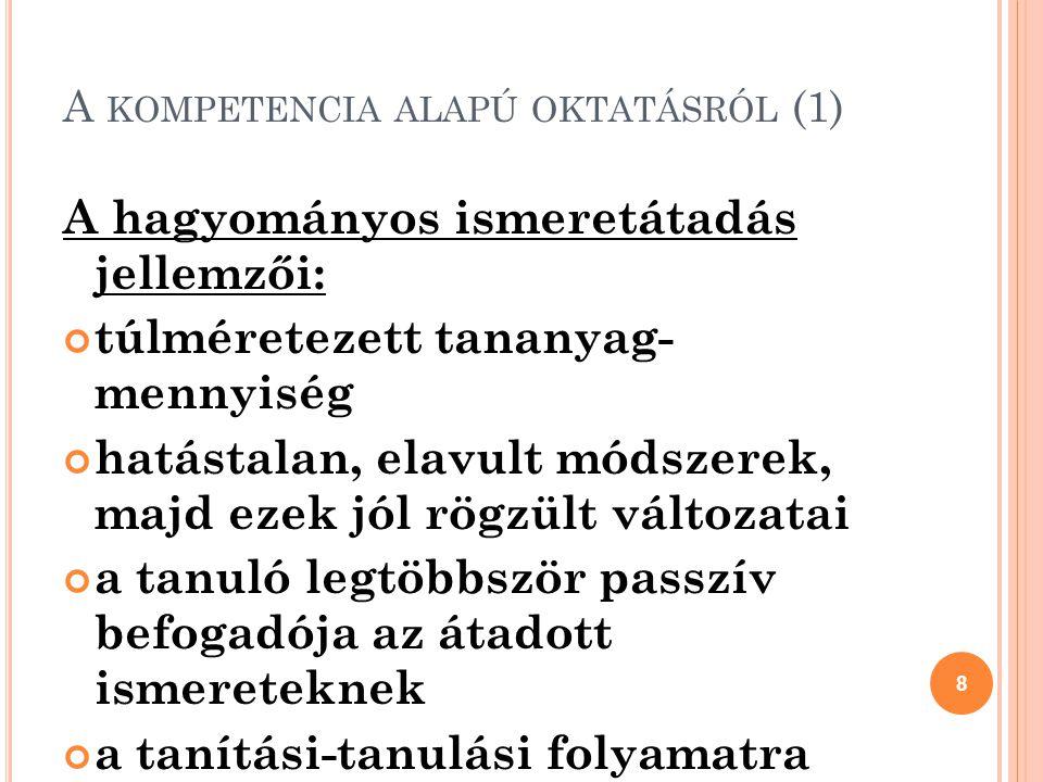 A kompetencia alapú oktatásról (1)