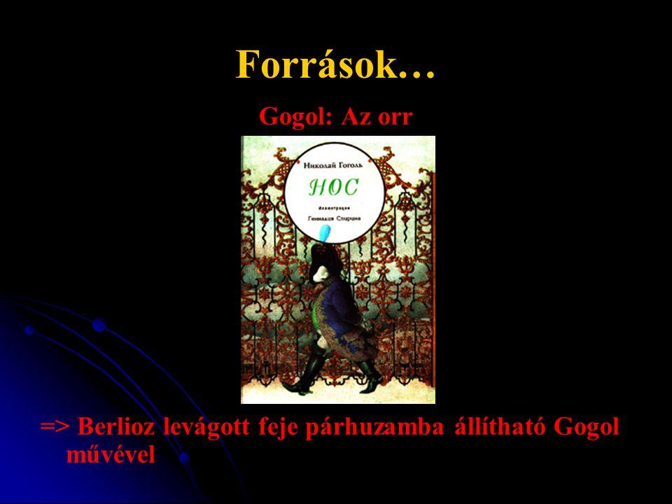 Források… Gogol: Az orr