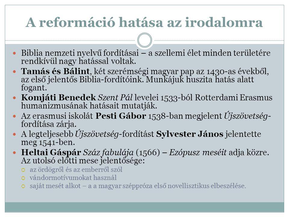 A reformáció hatása az irodalomra