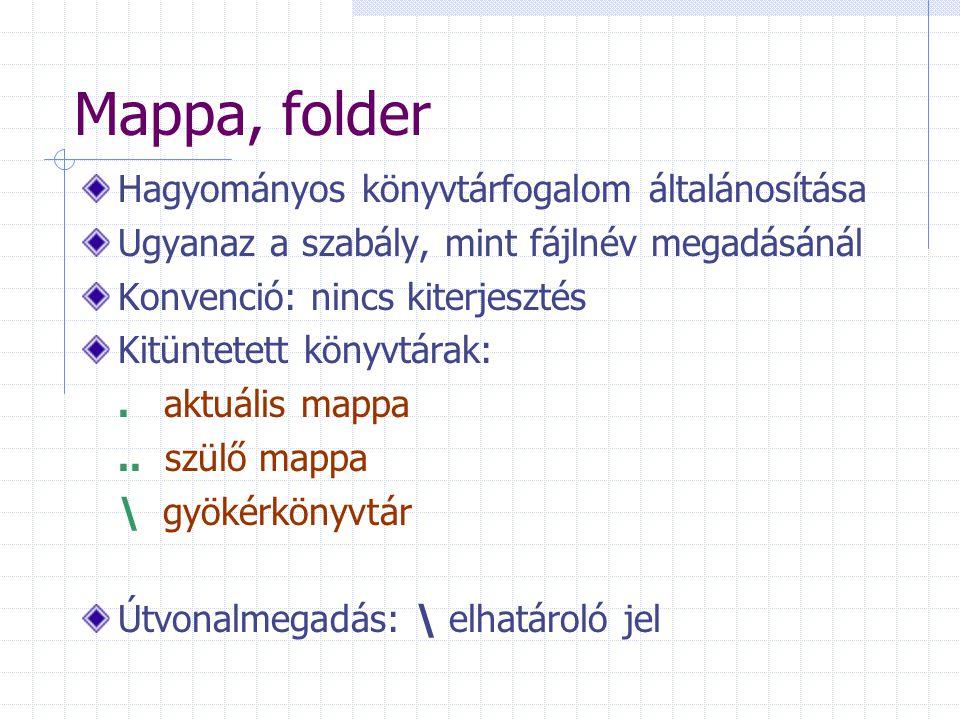 Mappa, folder Hagyományos könyvtárfogalom általánosítása