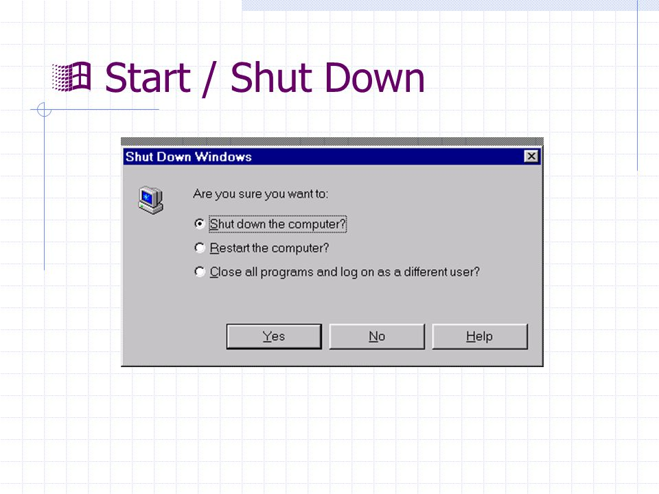 Start / Shut Down
