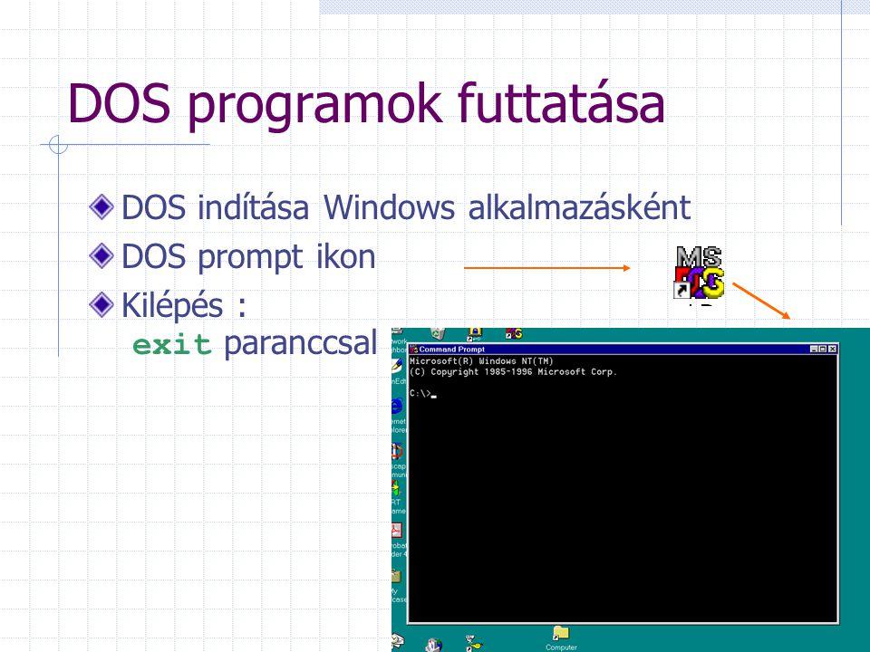 DOS programok futtatása