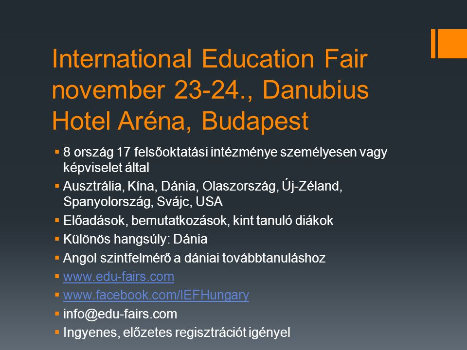 International Education Fair november 23-24