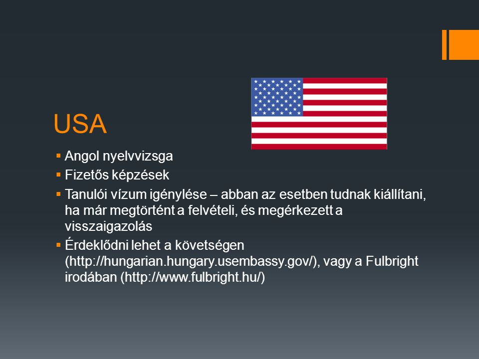 USA Angol nyelvvizsga Fizetős képzések