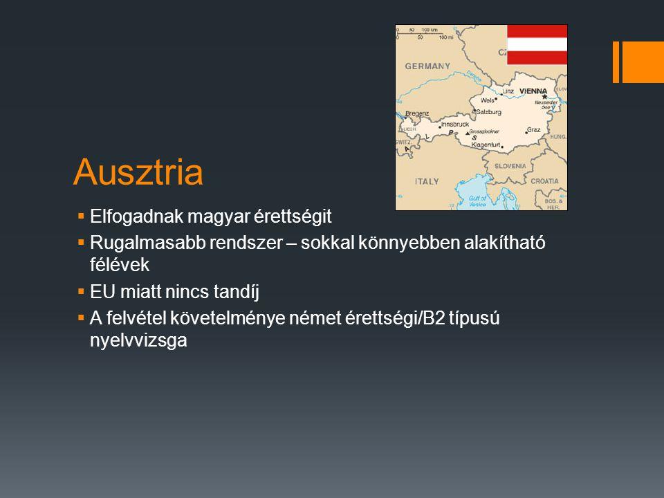 Ausztria Elfogadnak magyar érettségit