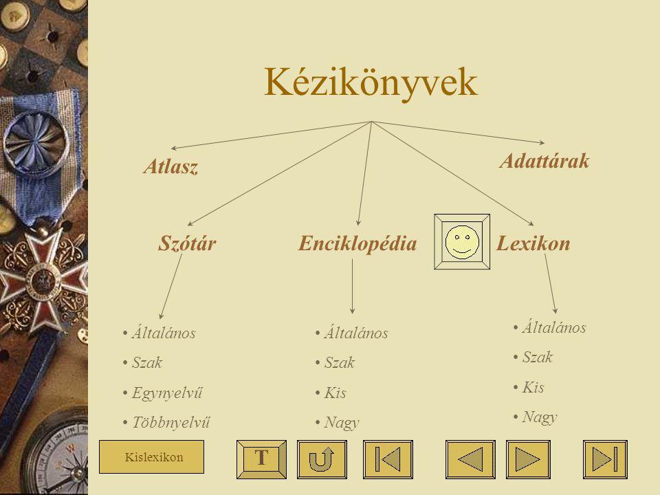 Kézikönyvek Adattárak Atlasz Szótár Enciklopédia Lexikon T Általános