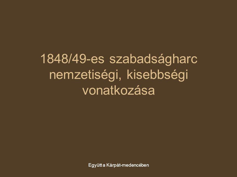 1848/49-es szabadságharc nemzetiségi, kisebbségi vonatkozása