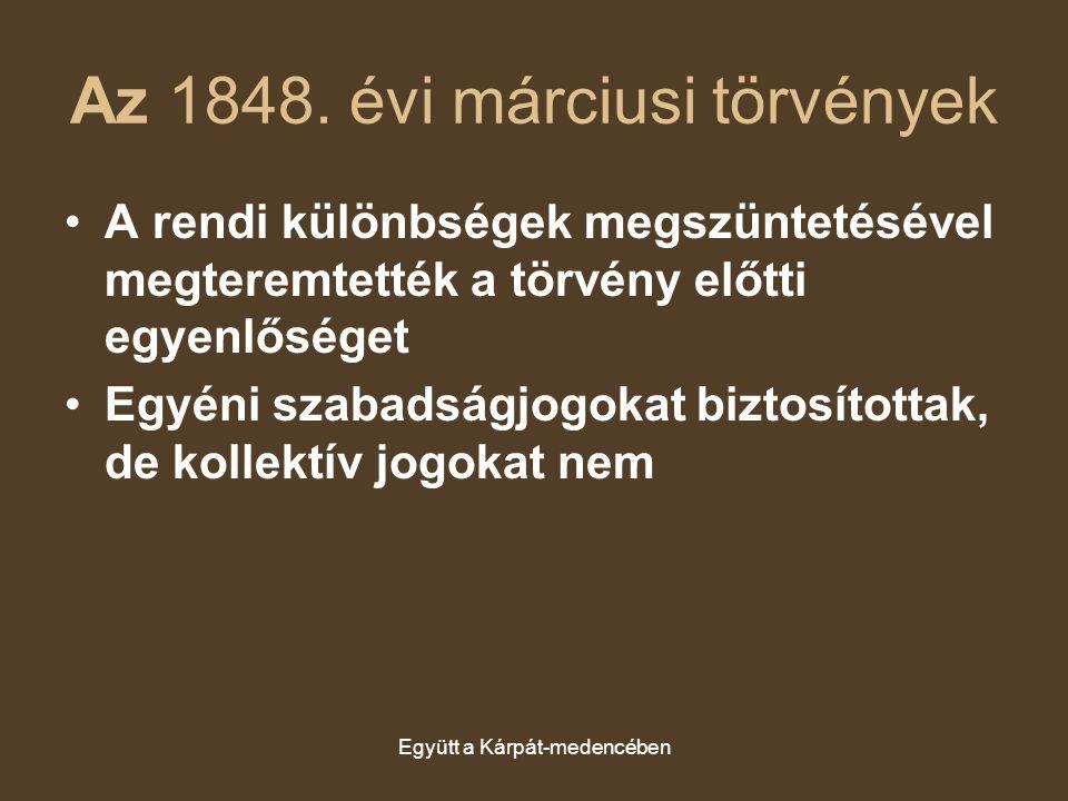 Az 1848. évi márciusi törvények