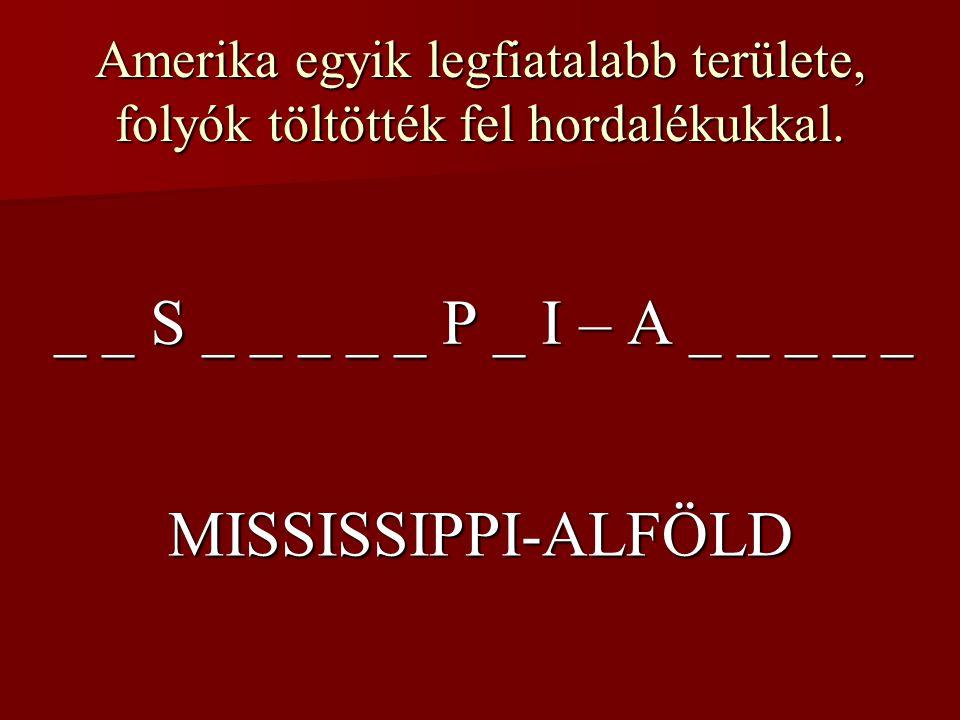 _ _ S _ _ _ _ _ P _ I – A _ _ _ _ _ MISSISSIPPI-ALFÖLD