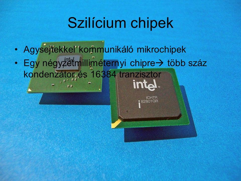Szilícium chipek Agysejtekkel kommunikáló mikrochipek