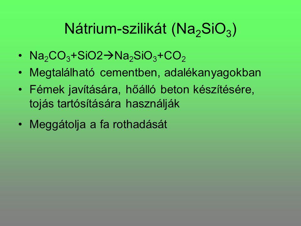 Nátrium-szilikát (Na2SiO3)