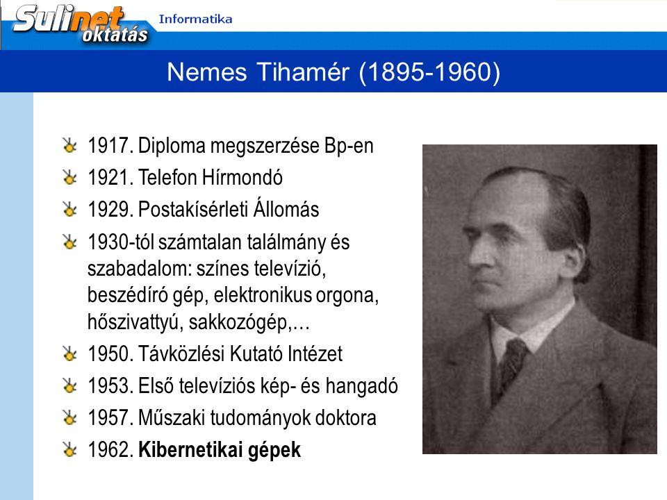 Nemes Tihamér (1895-1960) 1917. Diploma megszerzése Bp-en