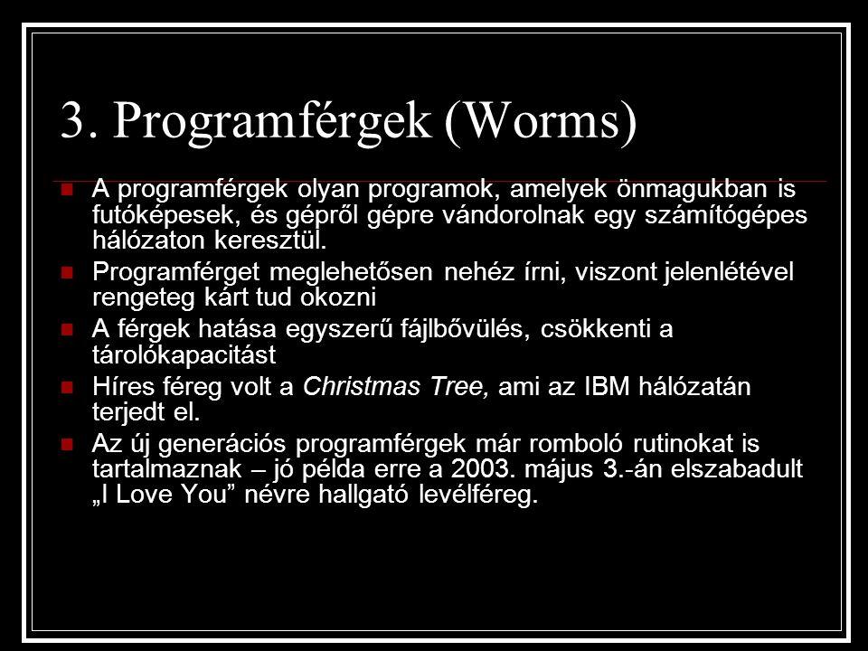 3. Programférgek (Worms)