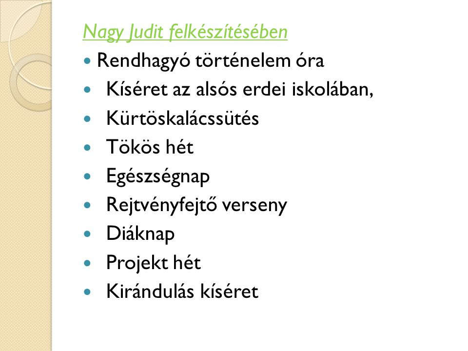 Nagy Judit felkészítésében