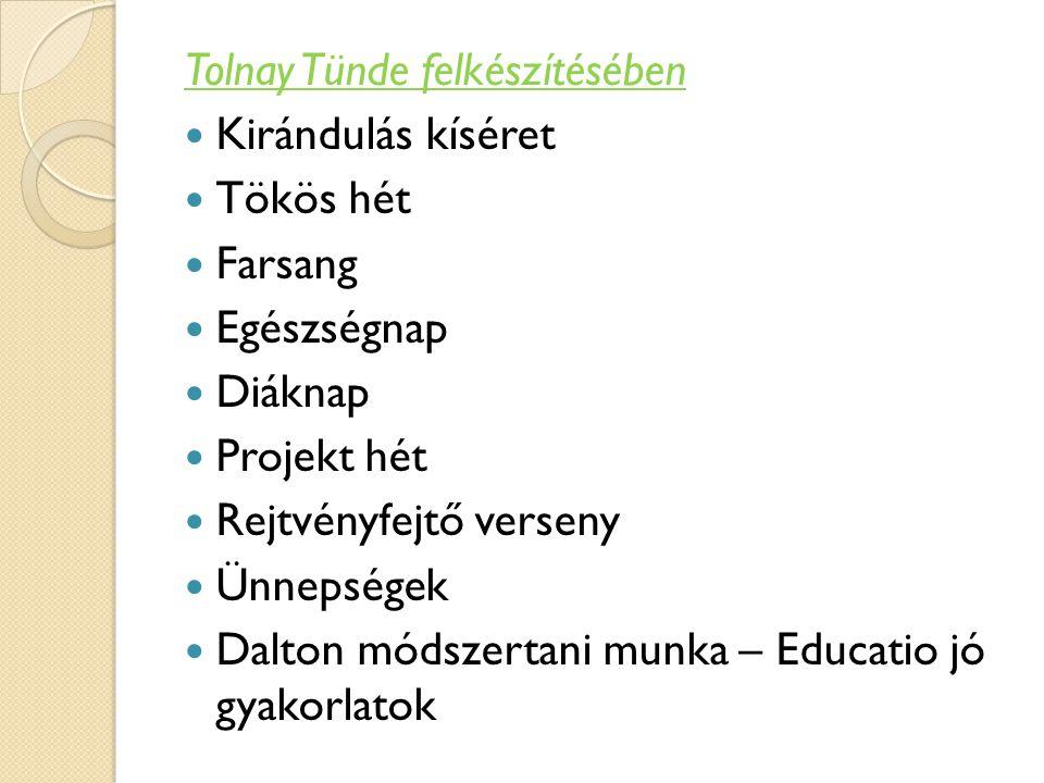 Tolnay Tünde felkészítésében