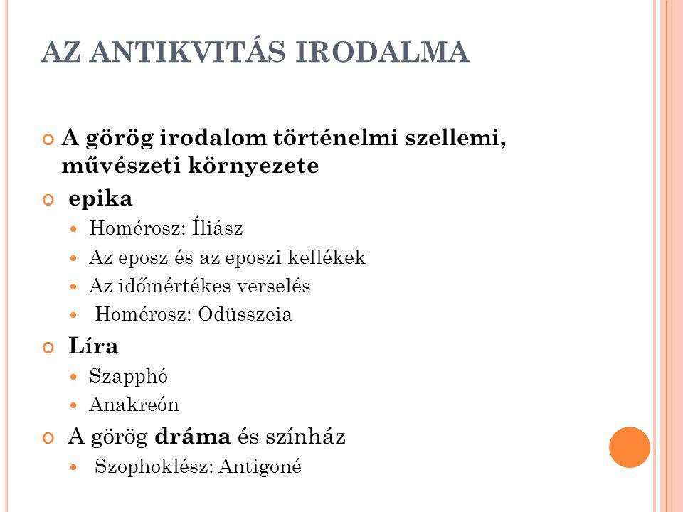 AZ ANTIKVITÁS IRODALMA