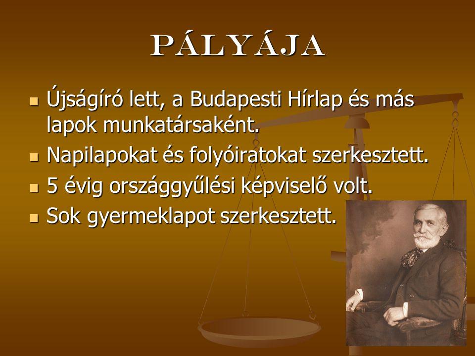 Pályája Újságíró lett, a Budapesti Hírlap és más lapok munkatársaként.