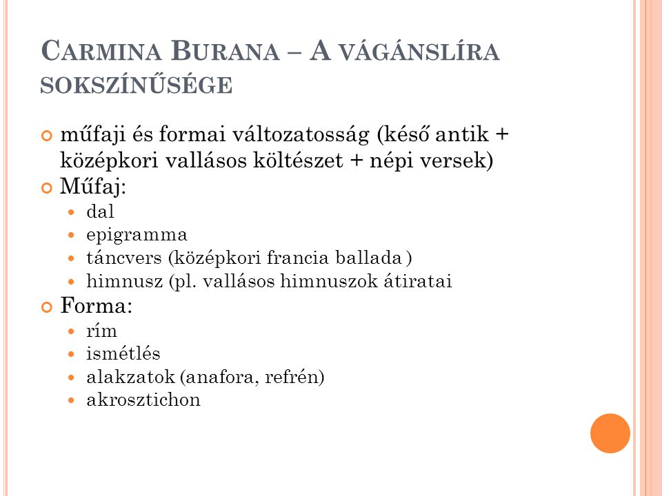 Carmina Burana – A vágánslíra sokszínűsége