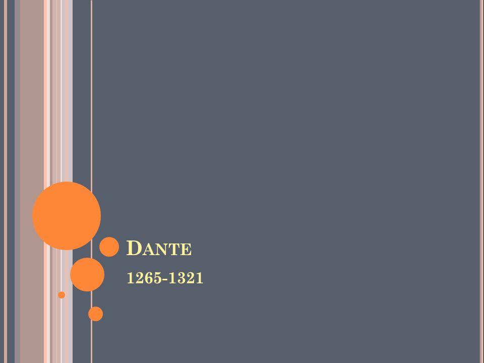 Dante 1265-1321