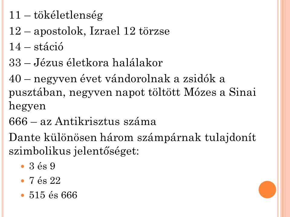 12 – apostolok, Izrael 12 törzse 14 – stáció