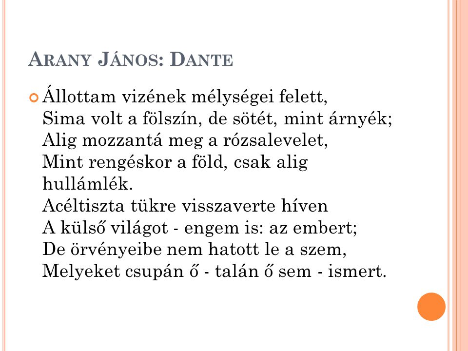 Arany János: Dante