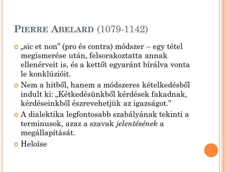 Pierre Abelard (1079-1142)