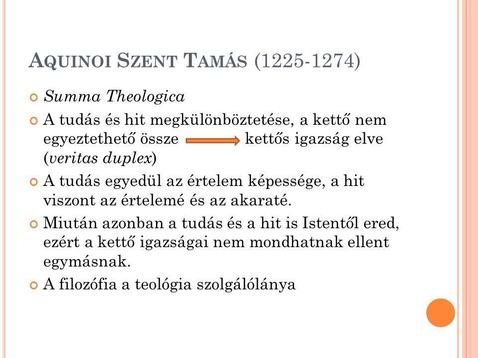 Aquinoi Szent Tamás (1225-1274)