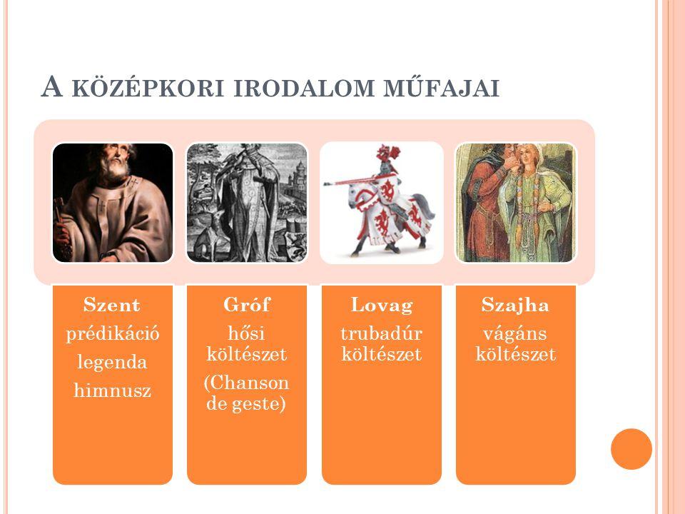 A középkori irodalom műfajai