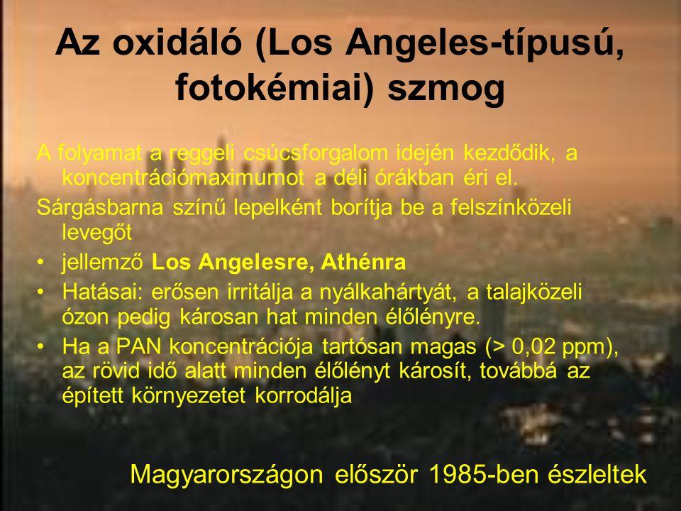 Az oxidáló (Los Angeles-típusú, fotokémiai) szmog