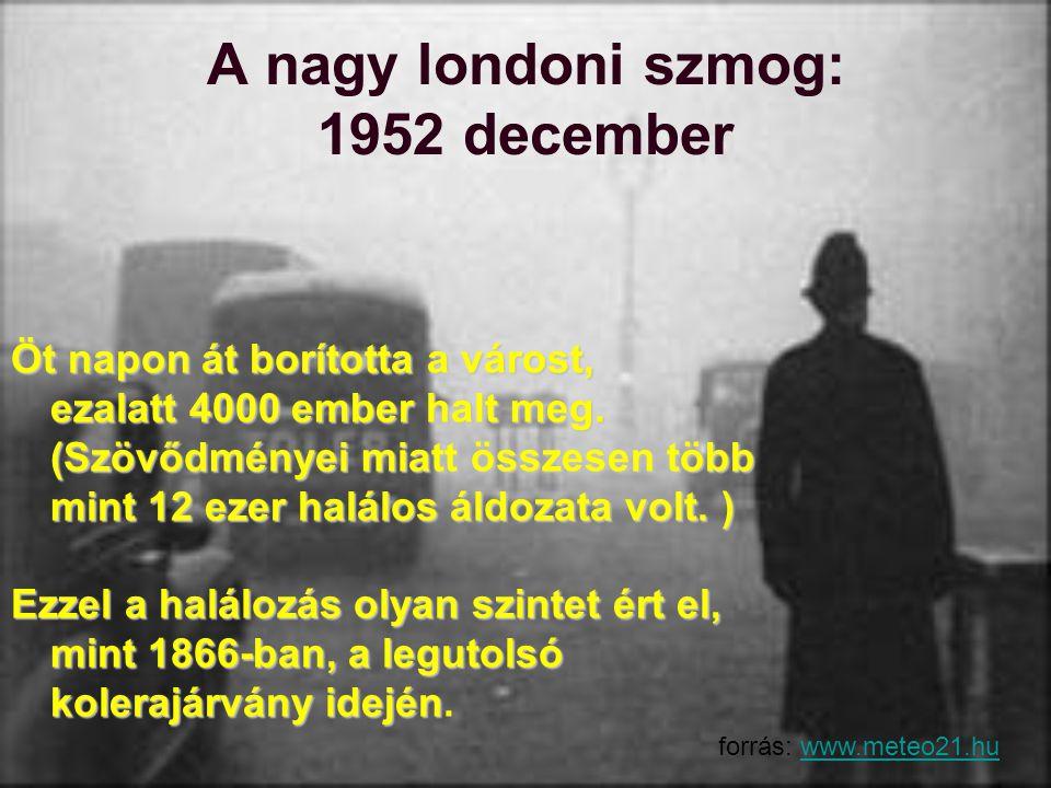 A nagy londoni szmog: 1952 december