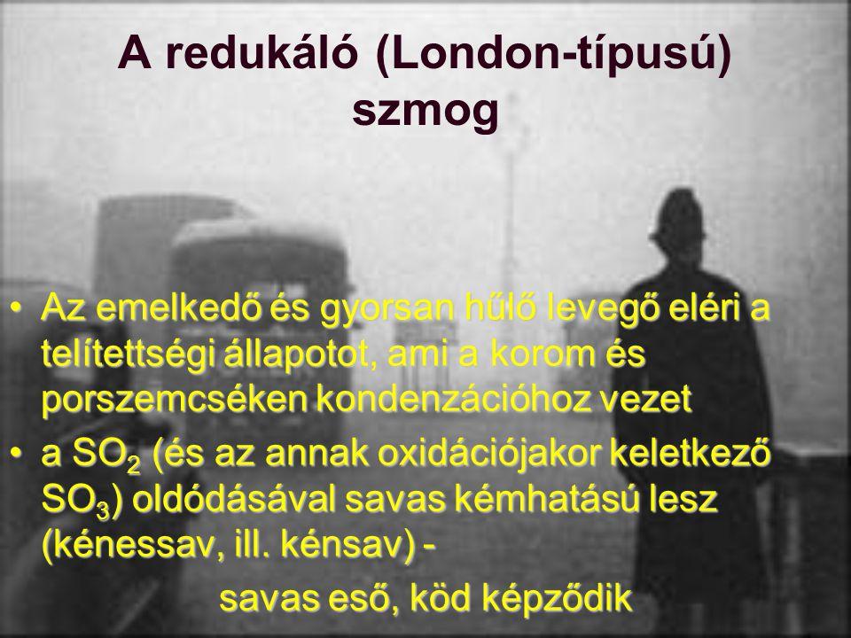 A redukáló (London-típusú) szmog