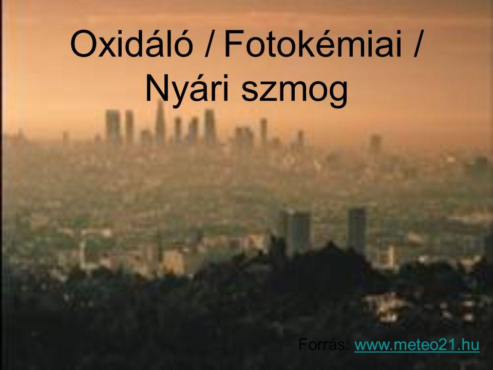 Oxidáló / Fotokémiai / Nyári szmog