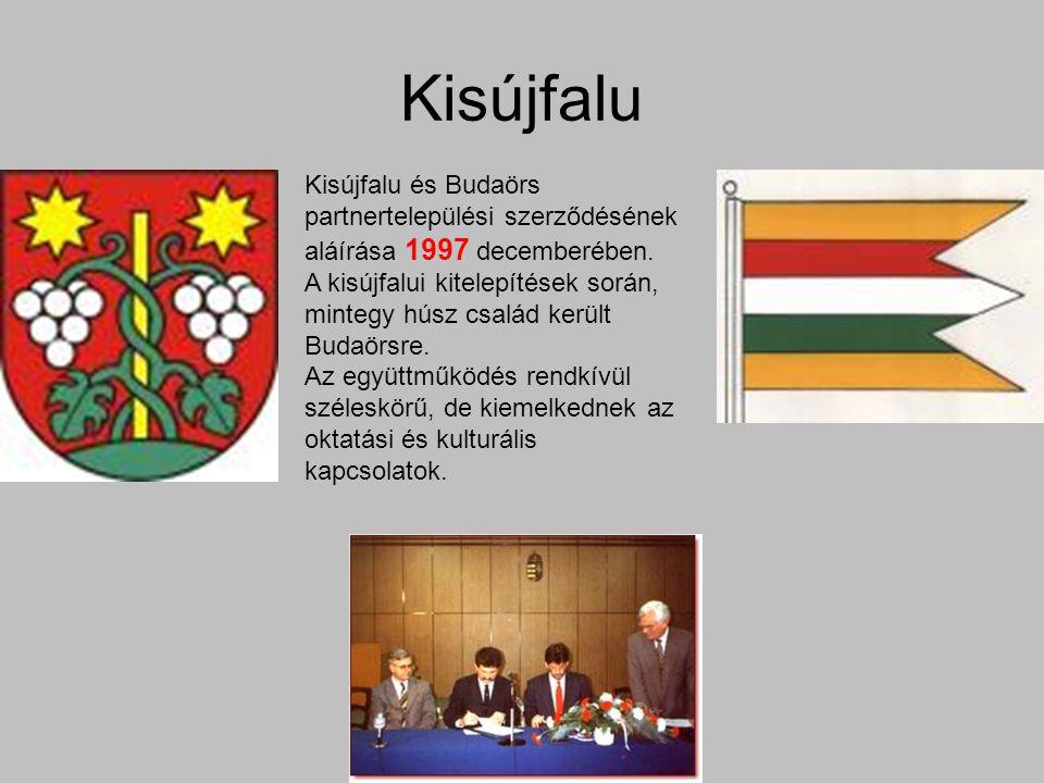 Kisújfalu Kisújfalu és Budaörs partnertelepülési szerződésének aláírása 1997 decemberében.