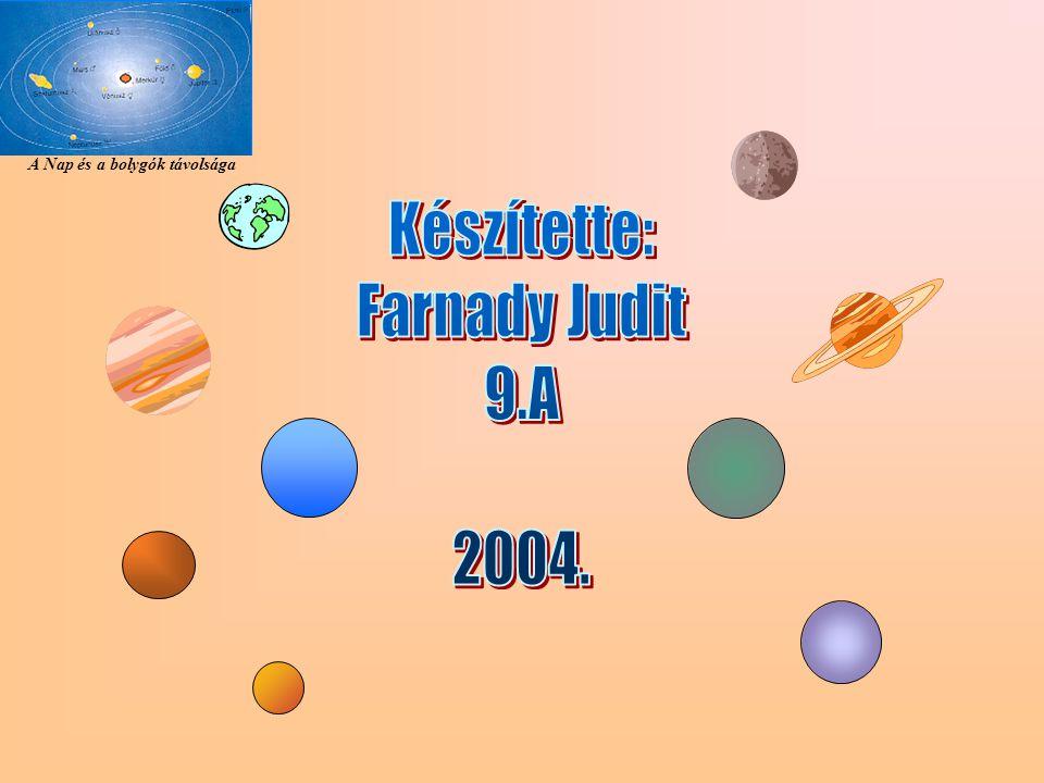 Készítette: Farnady Judit 9.A 2004.