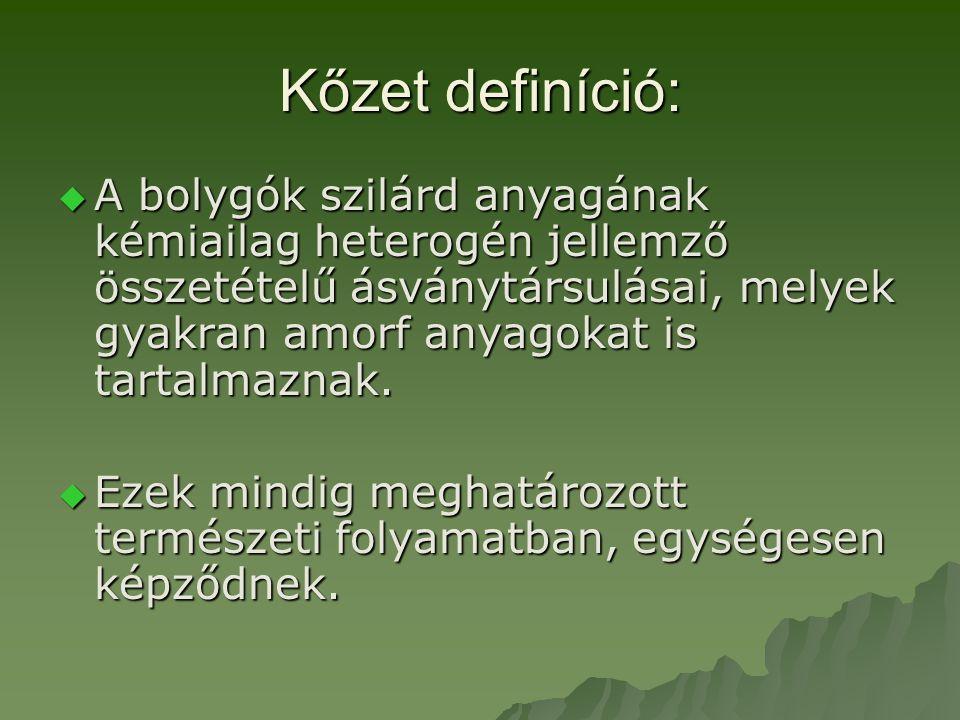 Kőzet definíció: