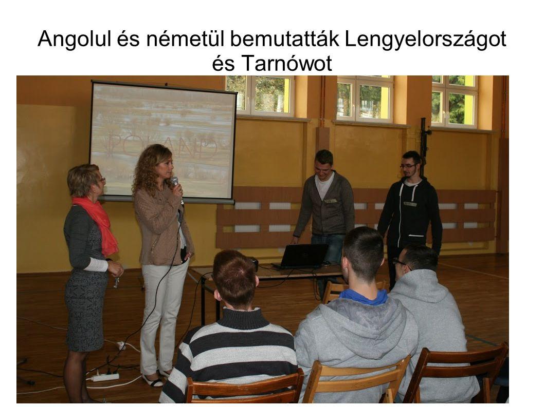 Angolul és németül bemutatták Lengyelországot és Tarnówot